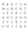 simple set of fantasy related line icon vector image vector image