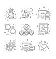 social media icon web community people symbols of vector image vector image