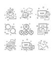 social media icon web community people symbols vector image