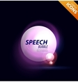 speech bubble design vector image vector image