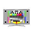 tv test pattern screen vector image vector image