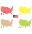 USA maps vector image vector image