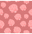 vintage peonies pattern vector image