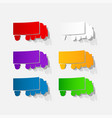 white modern van with blank space for text or vector image vector image