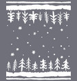 winter floor mat design hand-drawn seamless vector image vector image