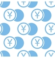 Yen coin seamless pattern vector image vector image