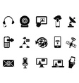 modern communication icons set vector image