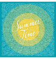 Summertime Handwritten phrase on color background vector image
