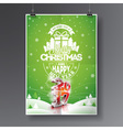 Merry Christmas Holiday and Happy New Year 2017 vector image