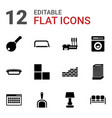 12 home icons vector image vector image