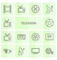 14 television icons vector image vector image
