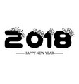 2018 happy new year black simple scraps style vector image vector image