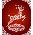 Abstract Christmas Deer vector image vector image