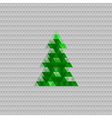 Abstract christmas tree background triangle vector image vector image