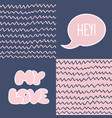 abstract handdrawn seamless patterns set simple vector image vector image