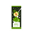 apple milk logo original design label for natural vector image vector image