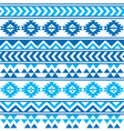 Aztec tribal seamless blue and navy pattern vector image vector image