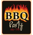 bbq in fire vector image vector image