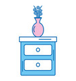 bedroom drawer with flower vase vector image vector image