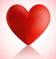 Big red heart with reflection vector image