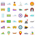 big transport icons set cartoon style vector image vector image