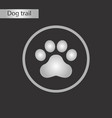 black and white style icon dog trail vector image vector image