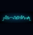 blue neon skyline new orleans city bright new vector image vector image