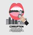 Building Was Eaten Corruption Concept vector image vector image