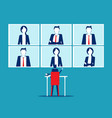 business people online meeting and talking online vector image