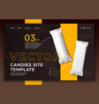 candy bar on bright modern site template vector image vector image