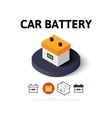 Car battery icon in different style vector image