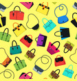 cartoon handbag or female bags background pattern vector image vector image