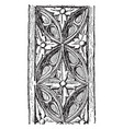 carving is a wooden panel vintage engraving vector image vector image