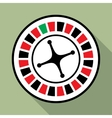 Casino roulette wheel flat icon vector image vector image