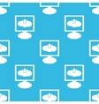 Cloud upload monitor pattern vector image vector image