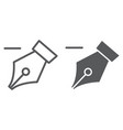 delete anchor thin line and glyph icon tools and vector image
