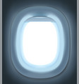 empty realistic airplane window mock up vector image