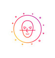 face recognition line icon faces biometrics sign vector image vector image
