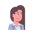 female happy smiling emotion icon isolated avatar vector image vector image