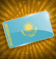 Flag of Kazakhstan with old texture vector image