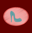 flat shading style icon women high heel shoes vector image