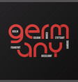 germany t-shirt and apparel design vector image