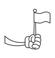 glove hand with flag vector image