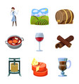 grape and winery icon vector image