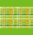 green tartan plaid scottish seamless vector image