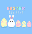 happy easter greeting card with bunny egg vector image