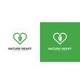 heart nature logo design vector image vector image