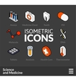 Isometric outline icons set 34 vector image vector image