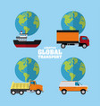 logistic global transport concept vector image vector image