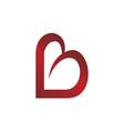love letter b vector image